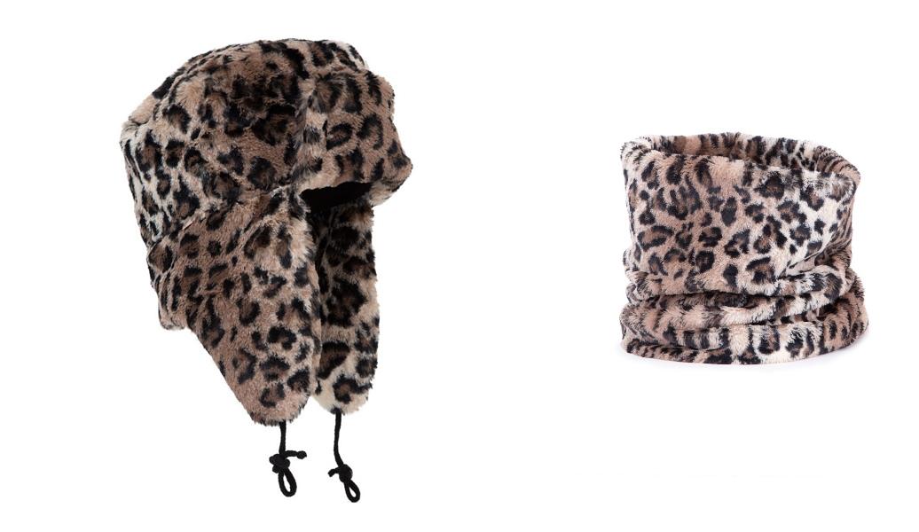Manila Grace colbacco animalier collo leopard