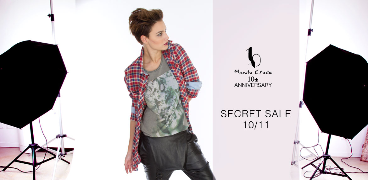 camicia tartan Secret Sale Manila Grace