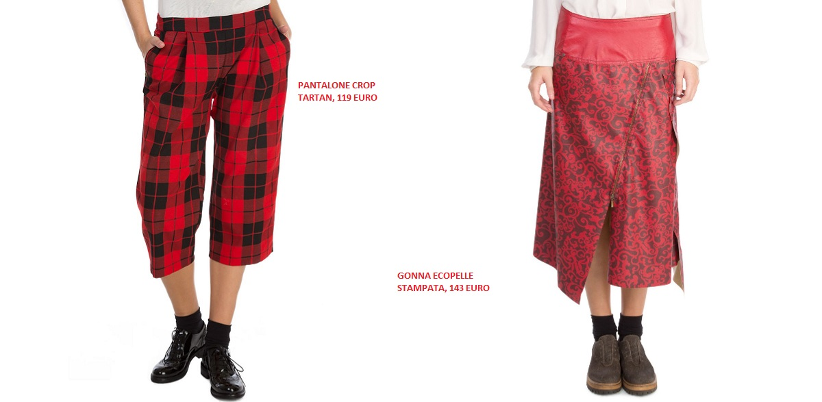 pantaloni tartan gonna rossa Manila Grace 2014