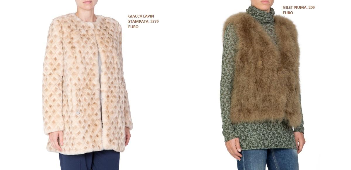 pelliccia fashion gilet piume Manila Grace