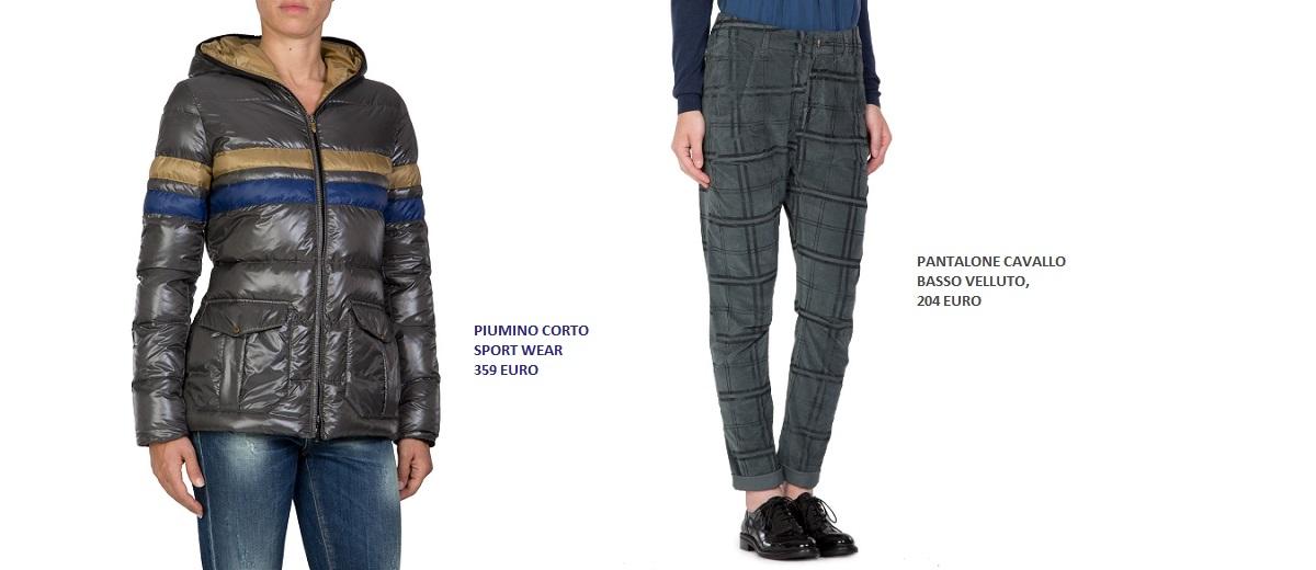 piumino sportwear Manila Grace pantalone velluto fashion
