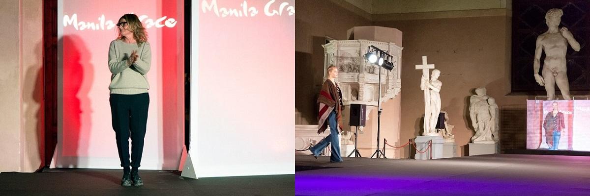 Manila Grace Alessia Santi sfilata Firenze Gipsoteca