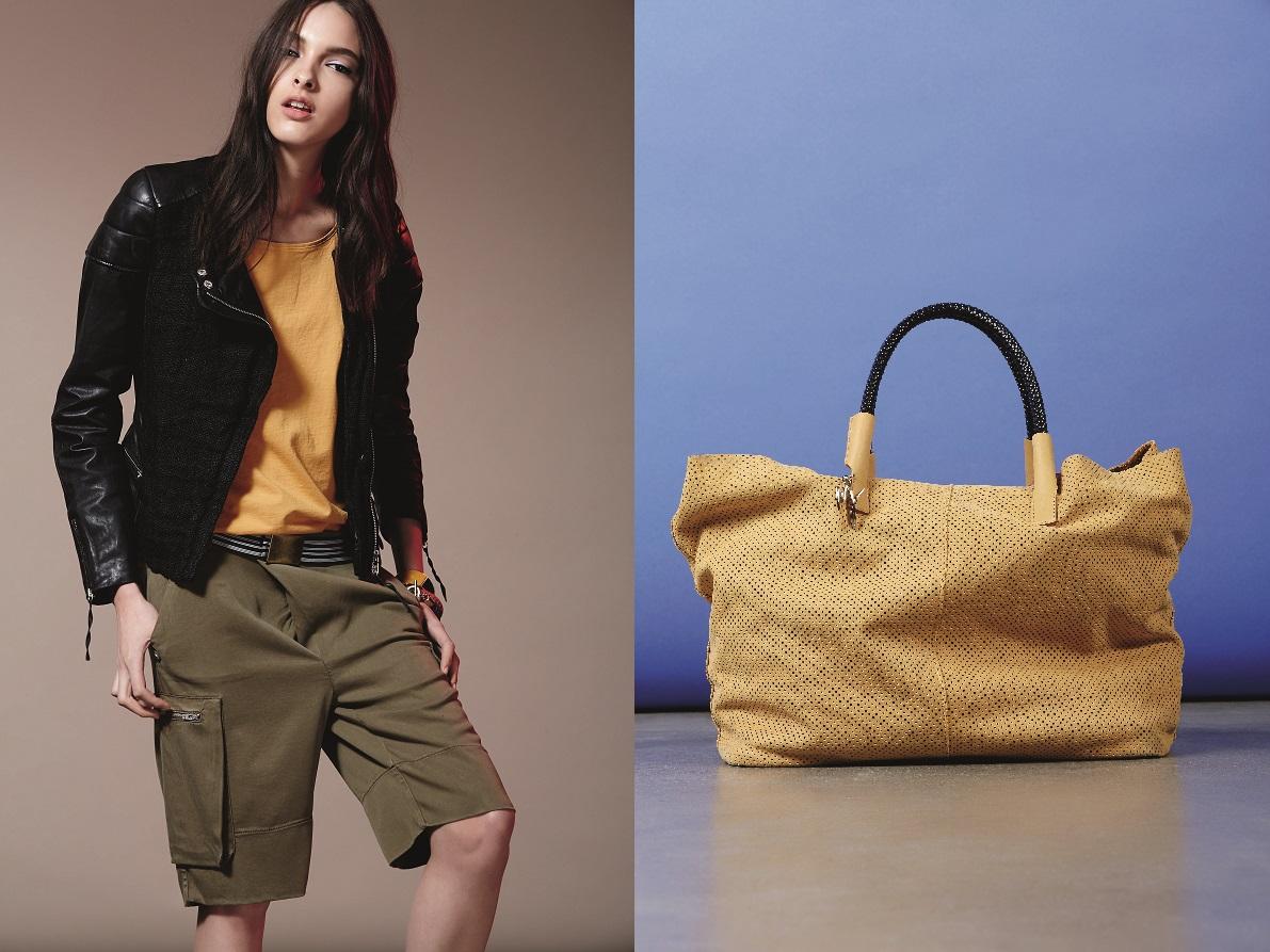 Manila Grace Denim SS15 yellow bag