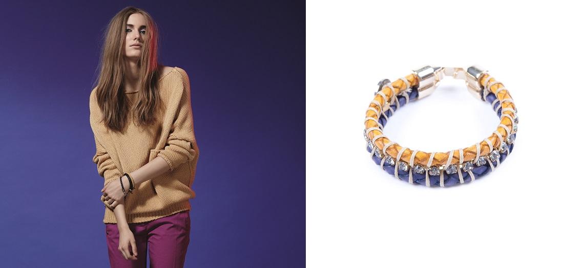 Manila Grace Denim accessori bracciale giallo 2015