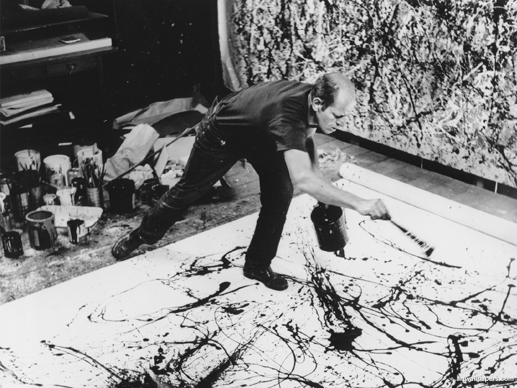 Jackson Pollock action painting dripping art