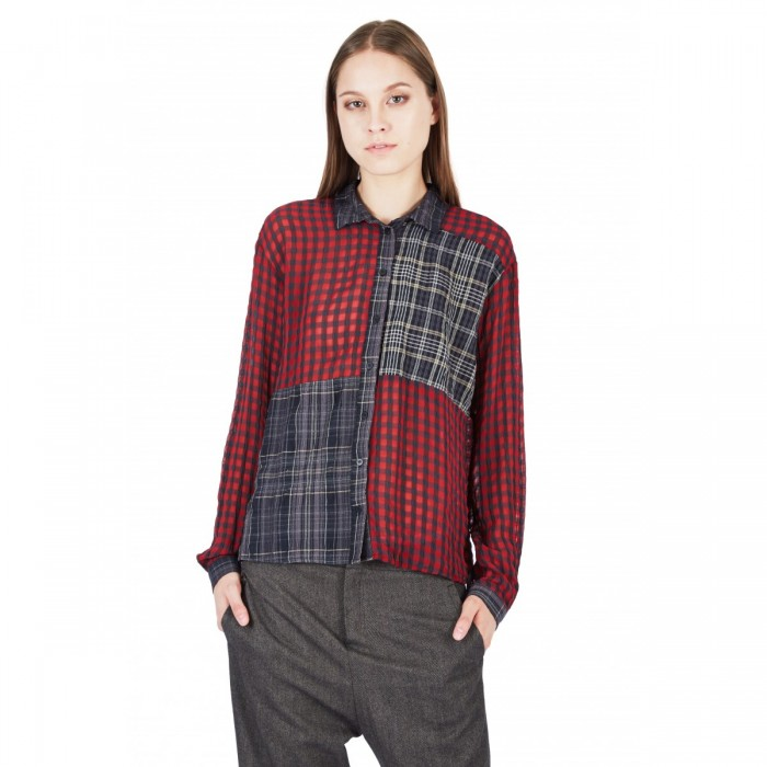 camicia-patchwork-in-vichy-e-scozzese