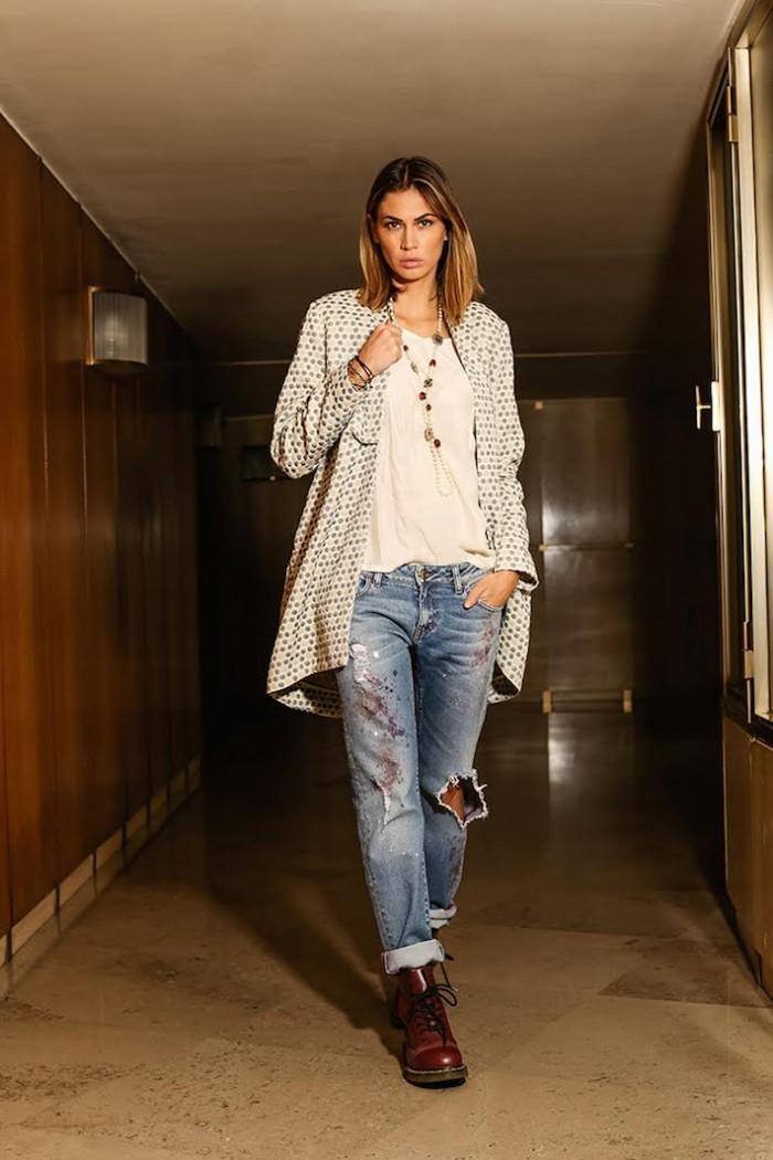 Melissa Satta jeans Manila Grace