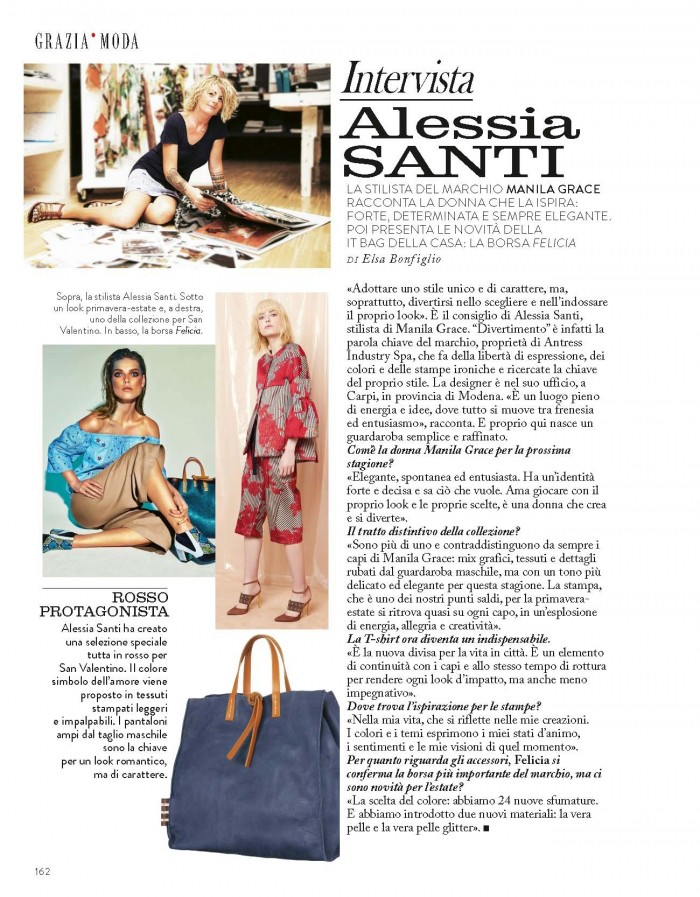 Grazie: intervista ad Alessia Santi