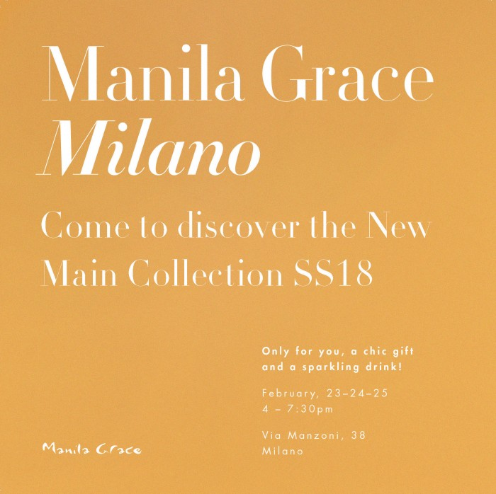 MFW – Manila Grace Milano evento in store