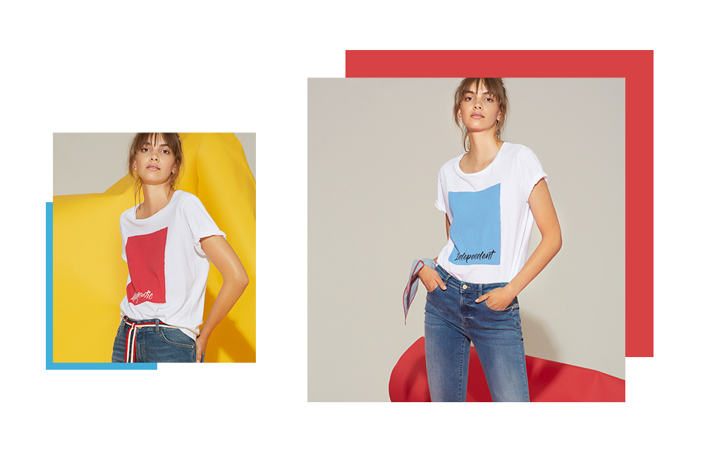 T-shirt rossa e t-shirt azzurra Manila Grace PE 2019